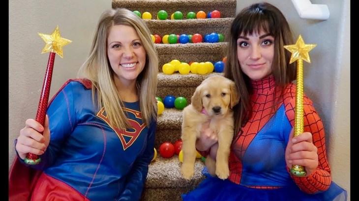 Super Girl Saves Sammie From Spider Girls Pretend Play Magic!