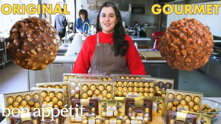Pastry Chef Attempts to Make Gourmet Ferrero Rocher | Gourmet Makes | Bon Appétit