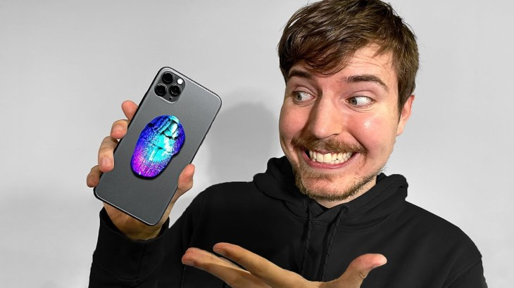 Surprising MrBeast With A Custom iPhone 11!!