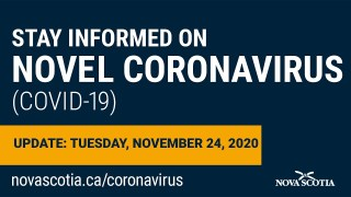 Update COVID-19 for Nova Scotians: Tuesday November  24