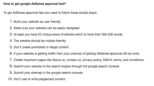 How to check my website is ready for AdSense?