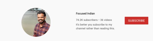 focused indian