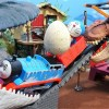 Thomas and Doraemon run away with eggs of dinosaurs!for kids!yupyon