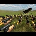 [ホラフキン]ブタにキャノン砲をつけて恐竜と戦わせてみたBeast Battle Simulator実況プレイ