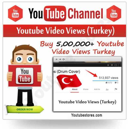 Turkey Youtube Video Views