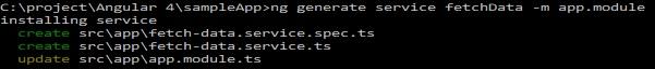 generate service