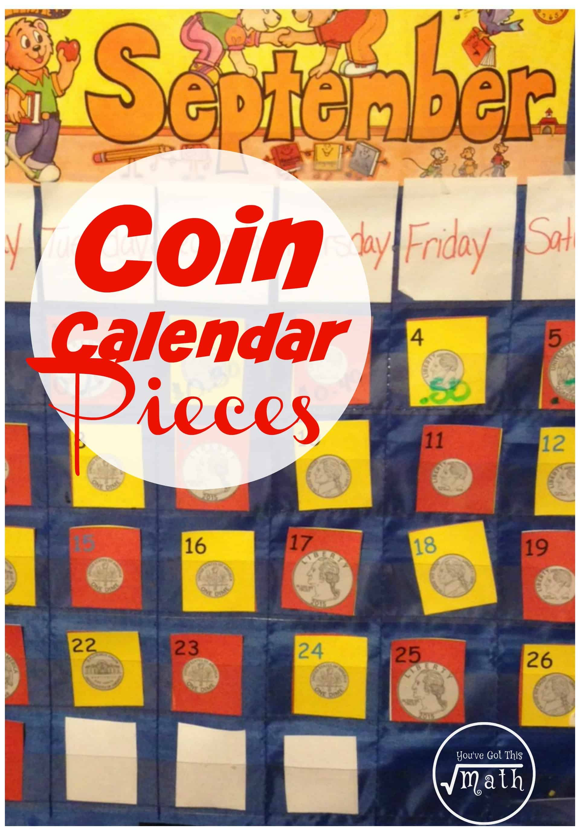 Free Coin Identification Calendar Pieces For Elementary Students