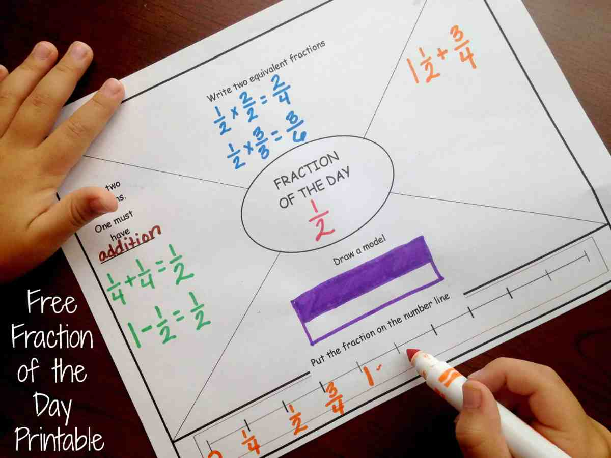 How To Build Fraction Knowledge with a Daily Fraction Printable