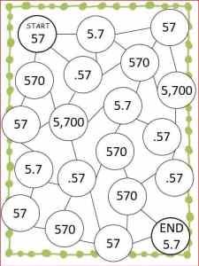 maze of zero game board