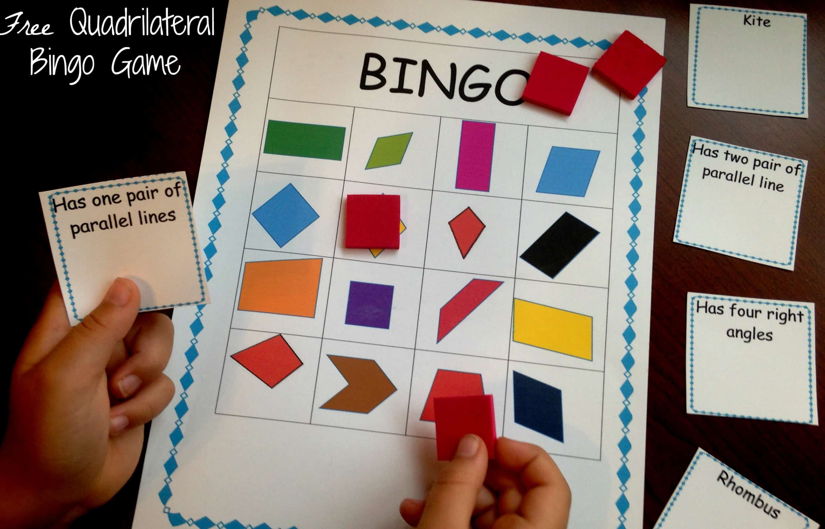 How To Review Classifying Quadrilaterals With This Free Quadrilateral Bingo Game The properties of quadrilaterals become more specialised as you branch down the family tree. 5 quadrilateral activities