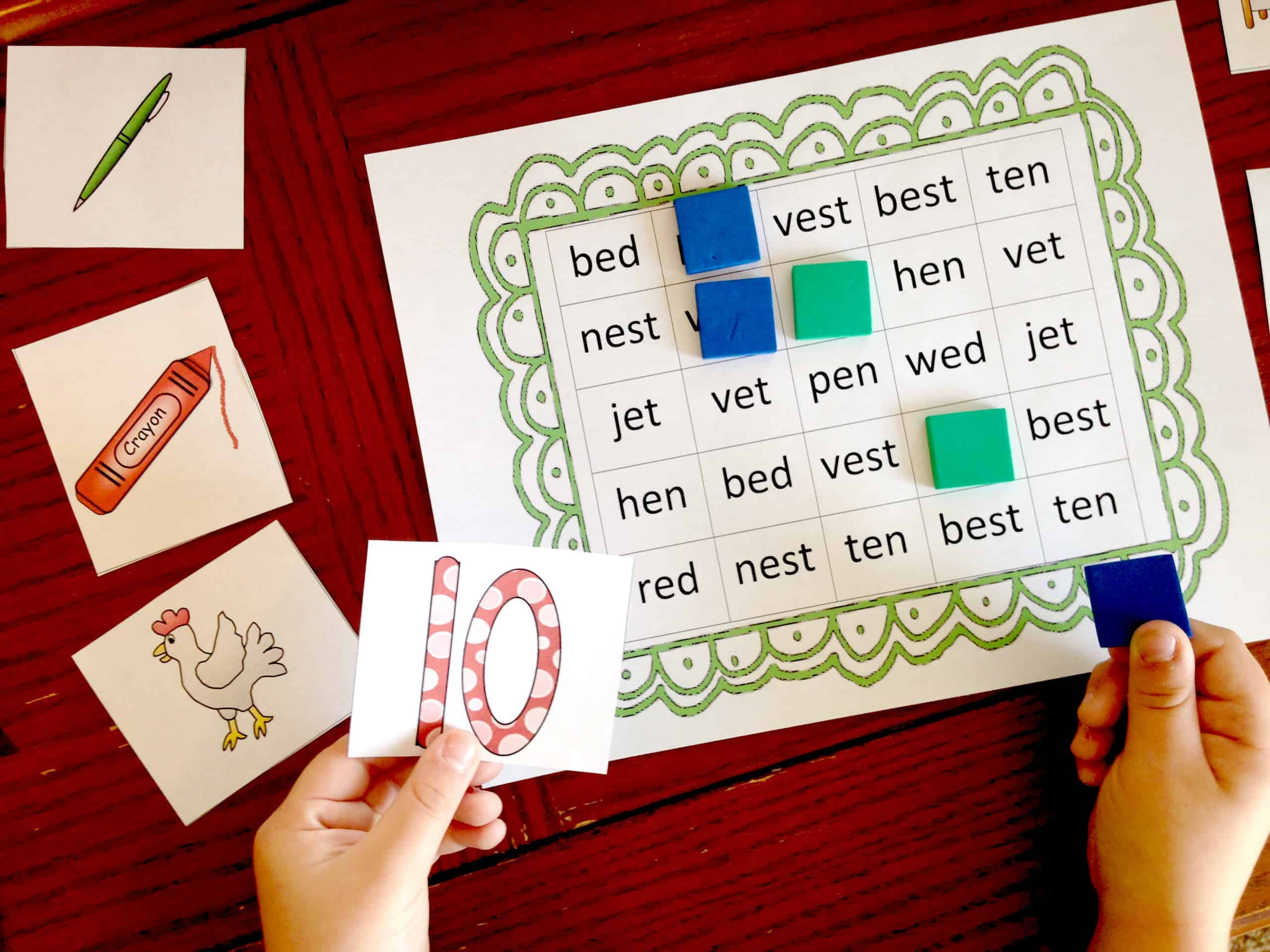Three Short E Activities To Learn Ed Est Et And En