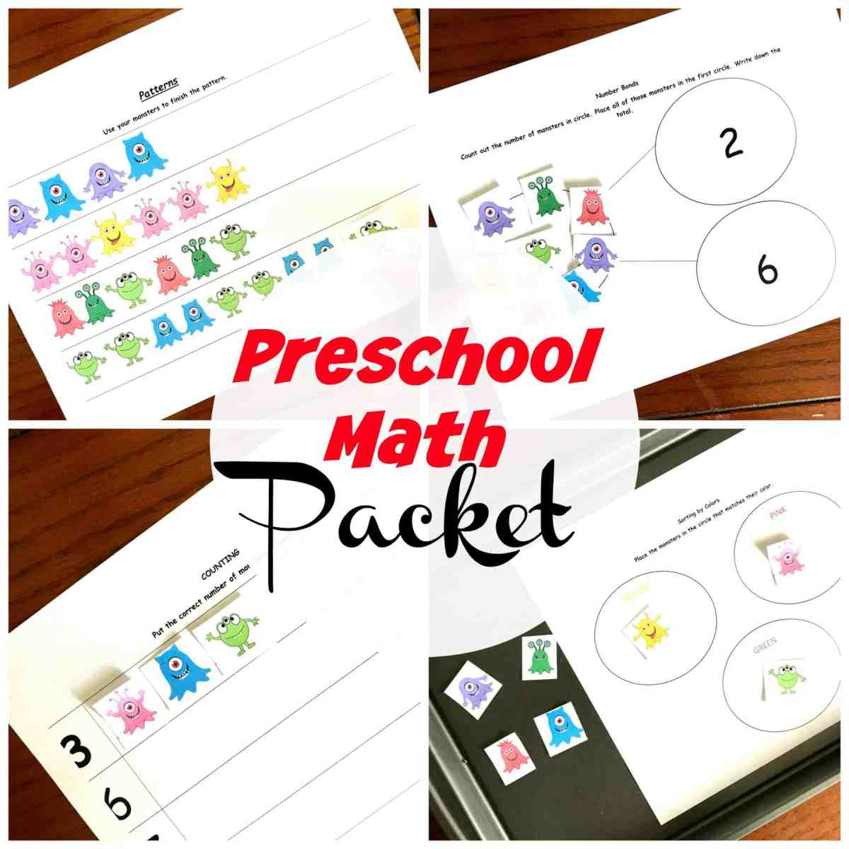 5 Preschool Math Worksheets To Practice Patterns, Sorting, and More