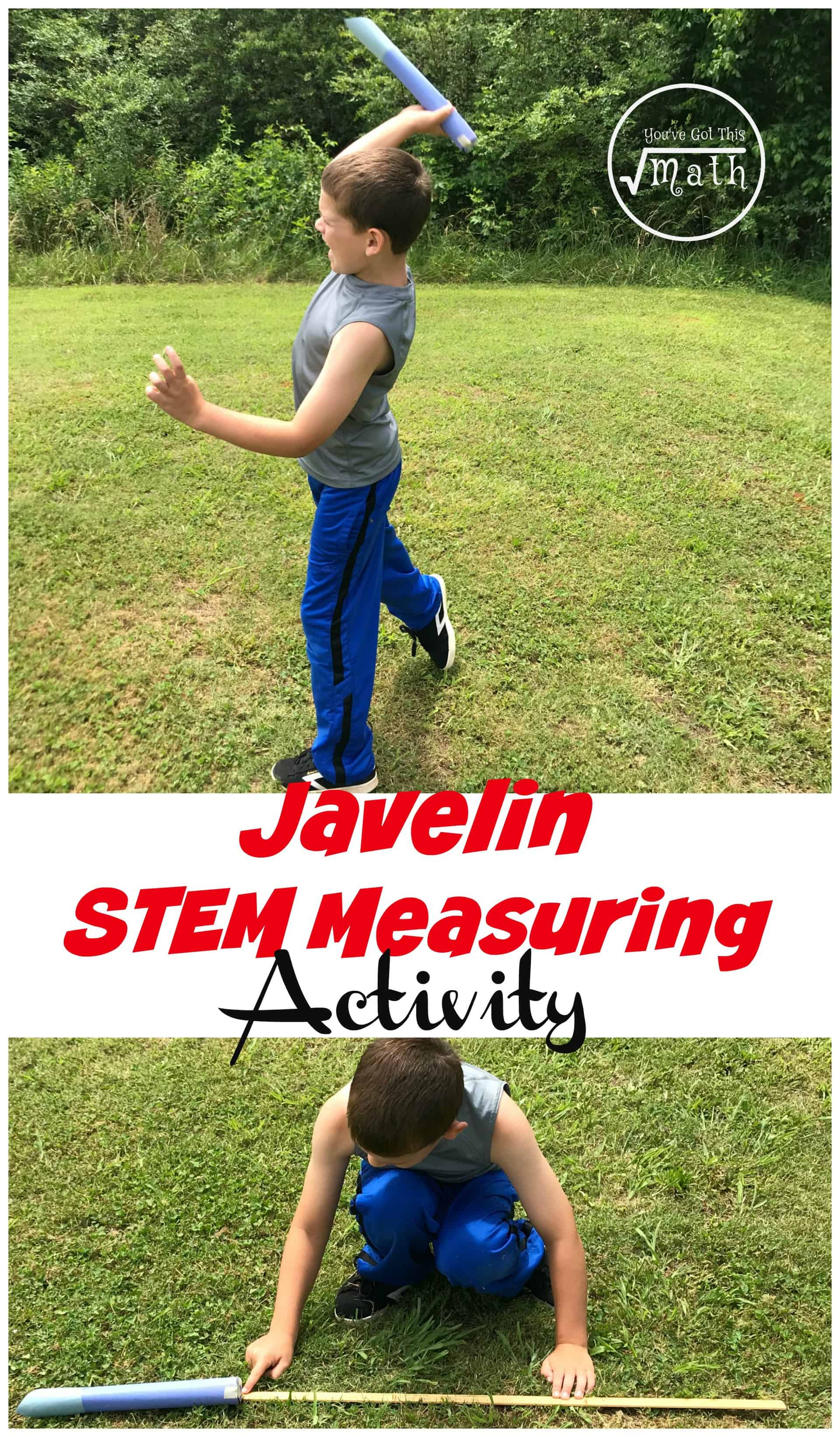 This STEM measurement activity gets children designing their own Javelin and then measuring how far they can throw it.