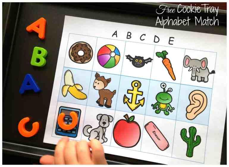 cookie tray alphabet match facebook