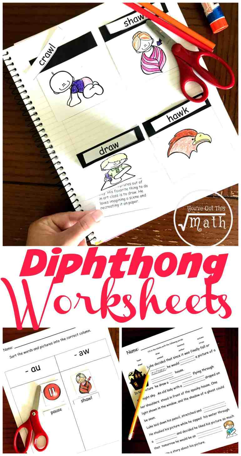 Looking for an engaging way to teach au and aw diphthongs? Check out these free diphthongs worksheet. There is an interactive notebook, cut and paste activity, and a fill in the blanks reading passage.