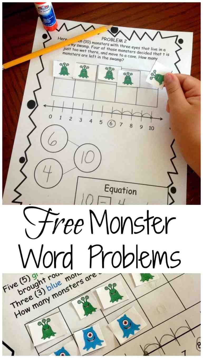 free-monster-word-problems-pinterest