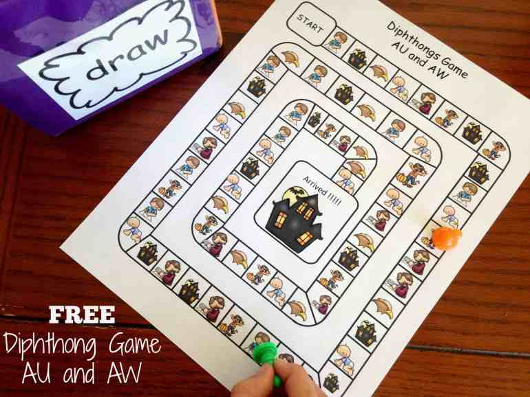 Practice Reading Diphthongs with FREE Diphthong Game