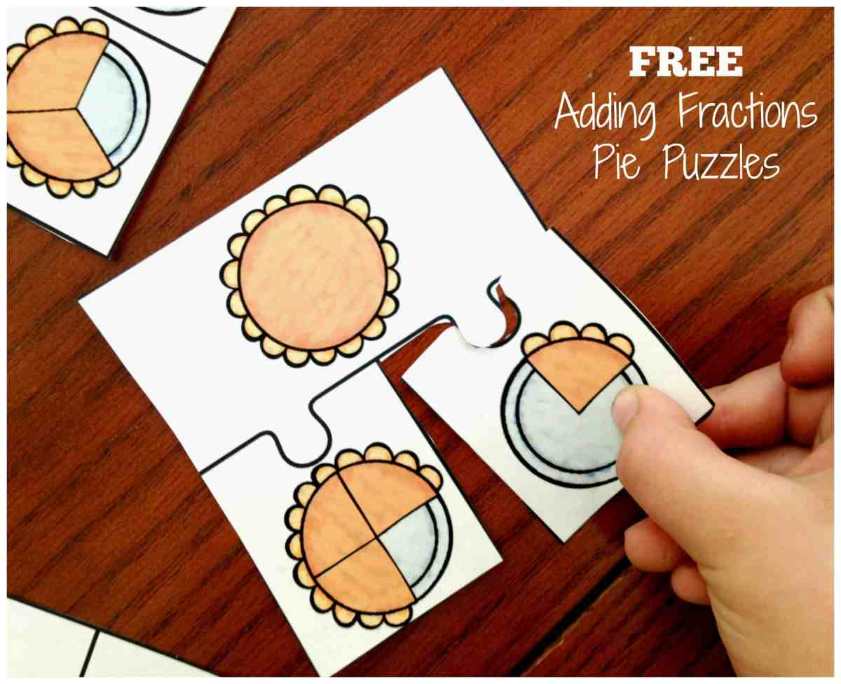 FREE Adding Fraction Puzzles