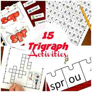 6 Coloring Consonant Cluster Worksheets For Trigraphs Such As spr & squ