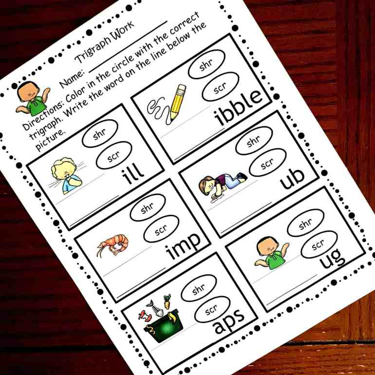 15 Hands On And Fun Trigraph Activities Consonant Clusters