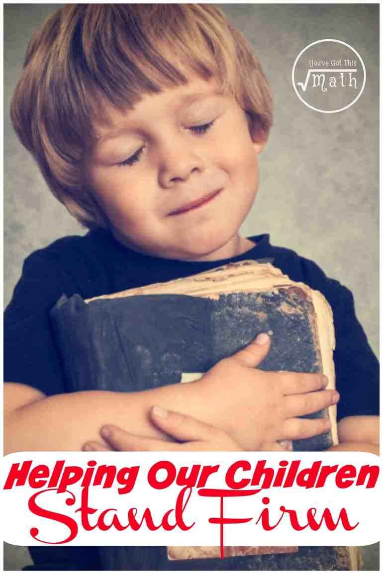 Here are the two changes I'm making so my children are standing firm in the Lord. They are small changes, but important ones that I want to implement in our busy lives.