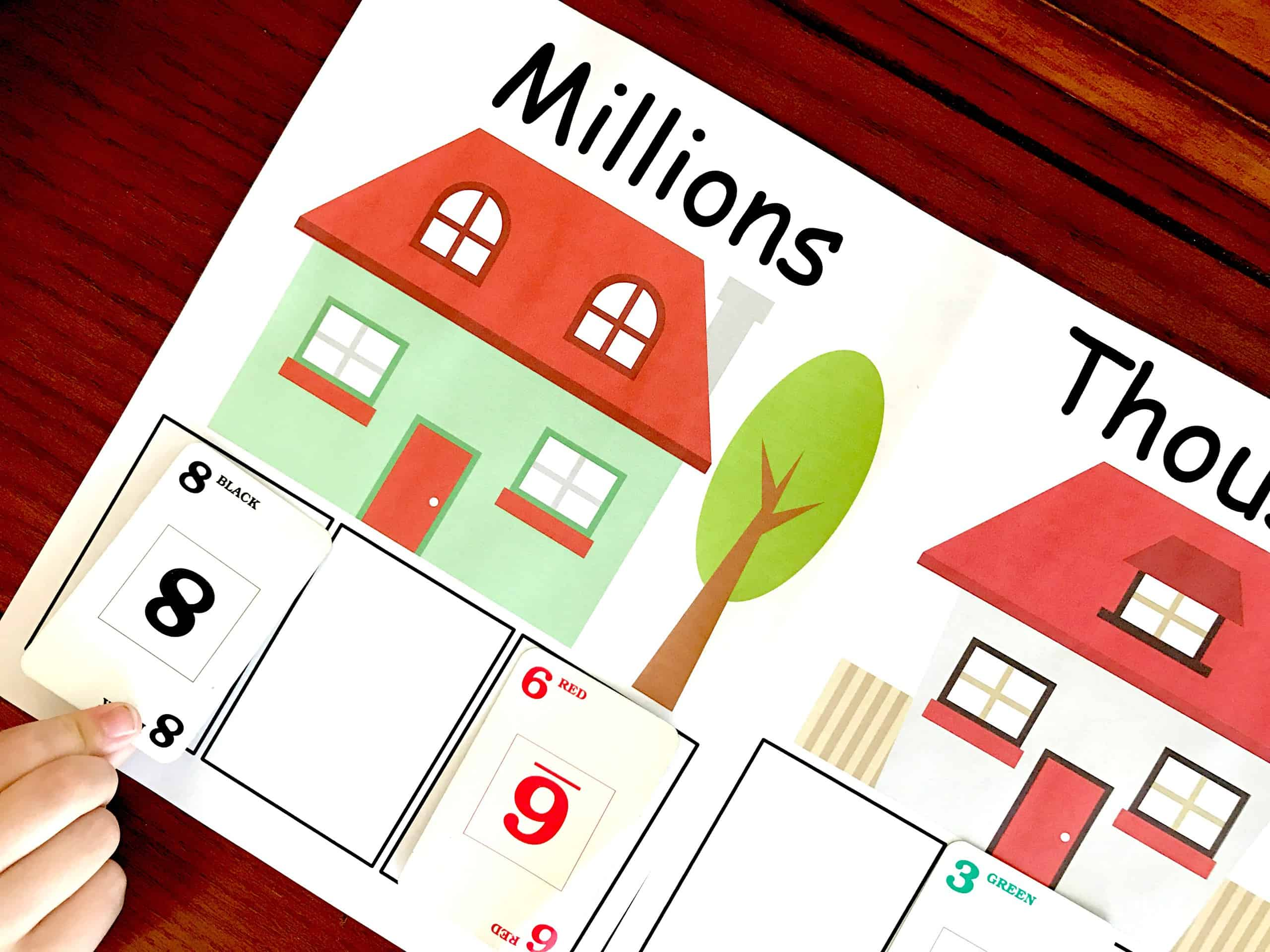 image about Printable Place Value Game identified as 30 Simple Math Online games For Practising Math Strategies and Techniques