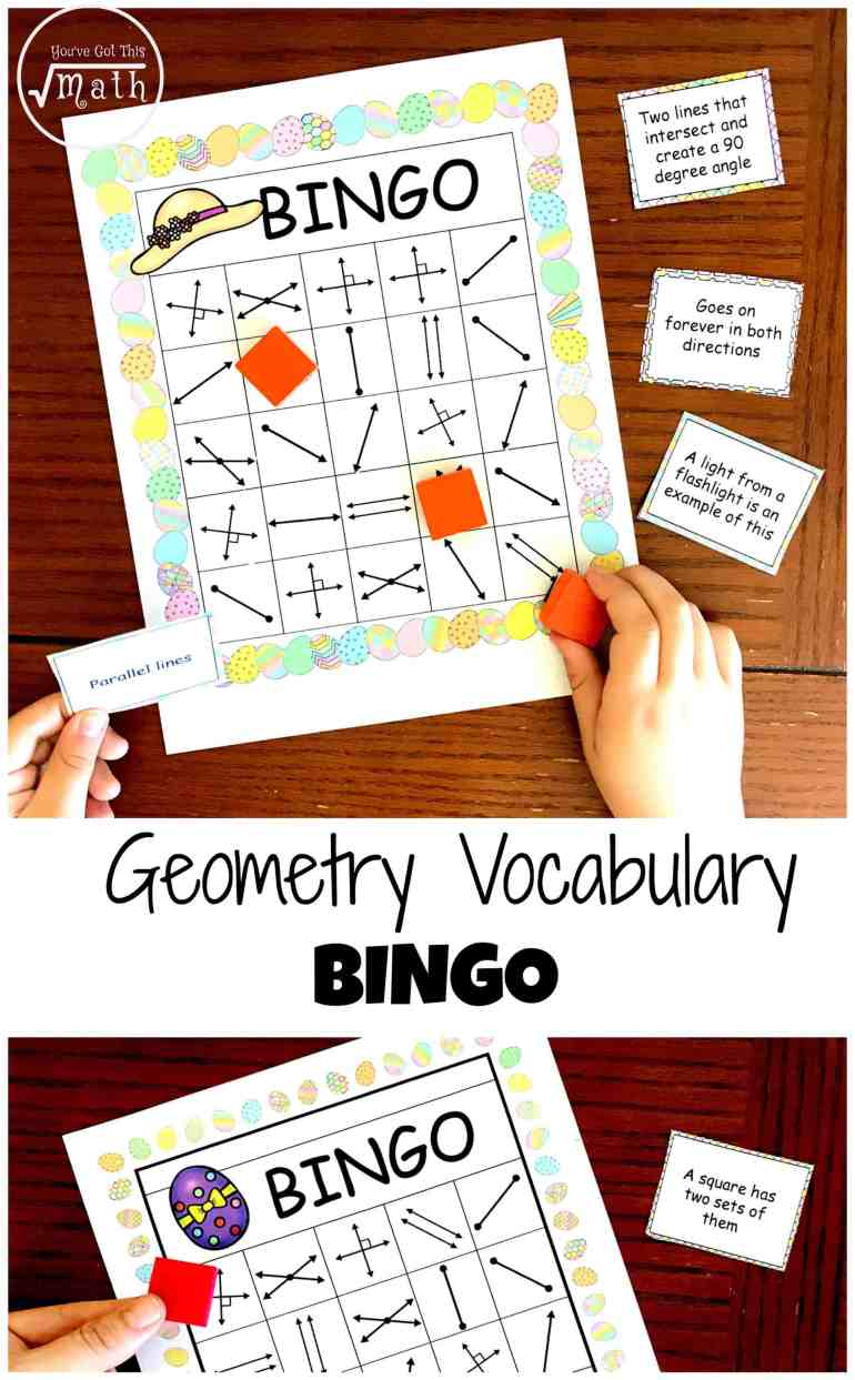 Get a free geometry bingo to work on lines rays parallel lines etc this free geometry bingo will help your students learn all about lines rays line segments parallel lines and perpendicular lines spiritdancerdesigns Choice Image