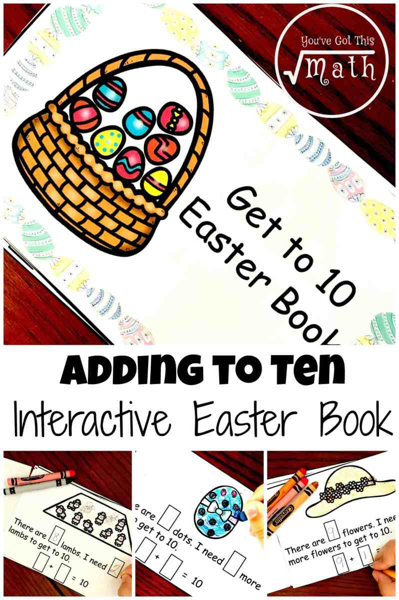 Grab Your FREE Easter Getting to 10 Interactive Book