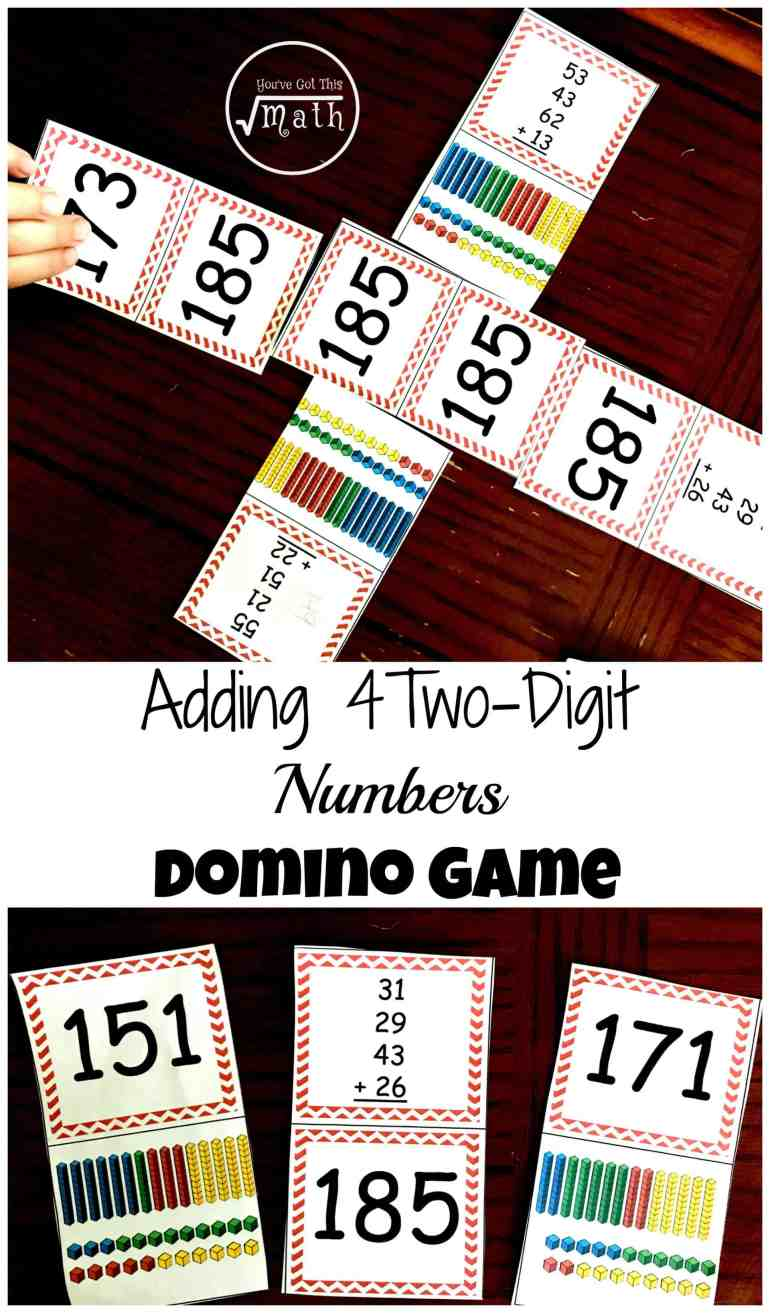 Here 39 S A Game To Practice Adding Four Two Digit Numbers