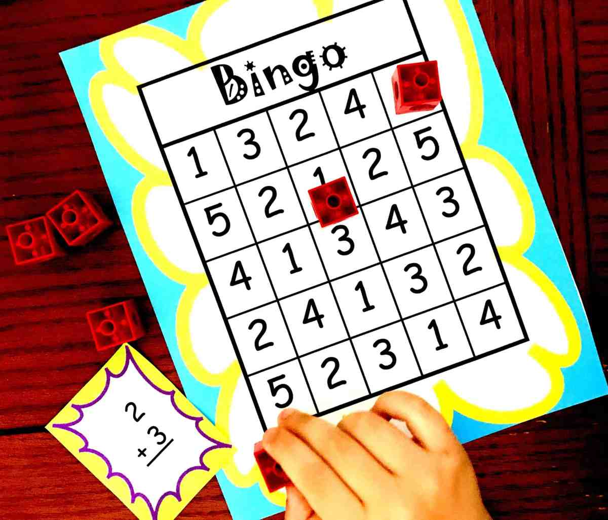 Here's A FREE Bingo Game to Help Children Practice Adding Within Five