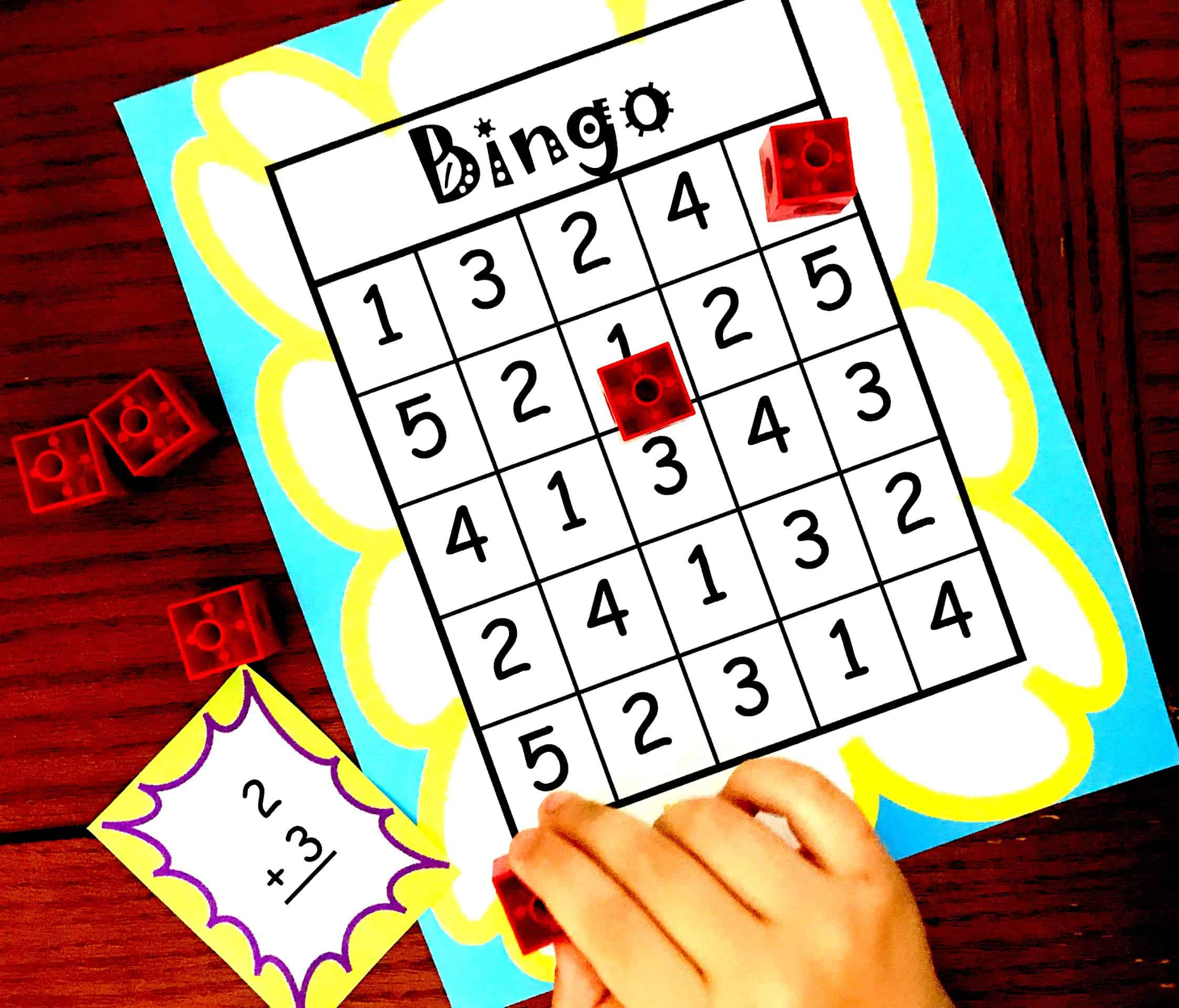 Here S A Free Bingo Game To Help Children Practice Adding Within Five