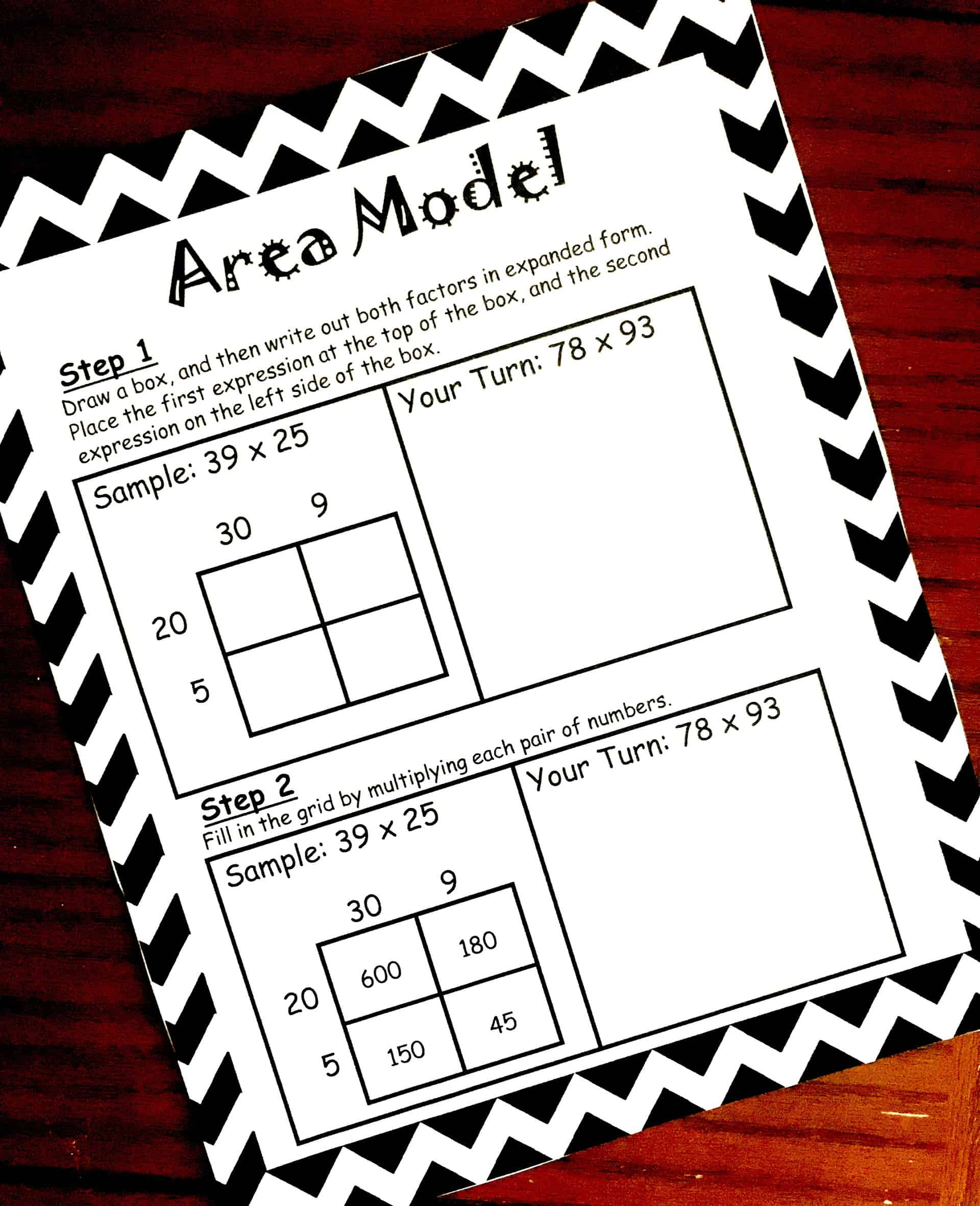 How To Teach Multiplication Using Area Model Free Printable