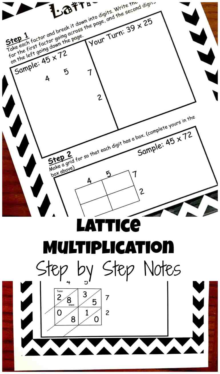 How to Teach Lattice Multiplication: Includes a Free Step by Step ...
