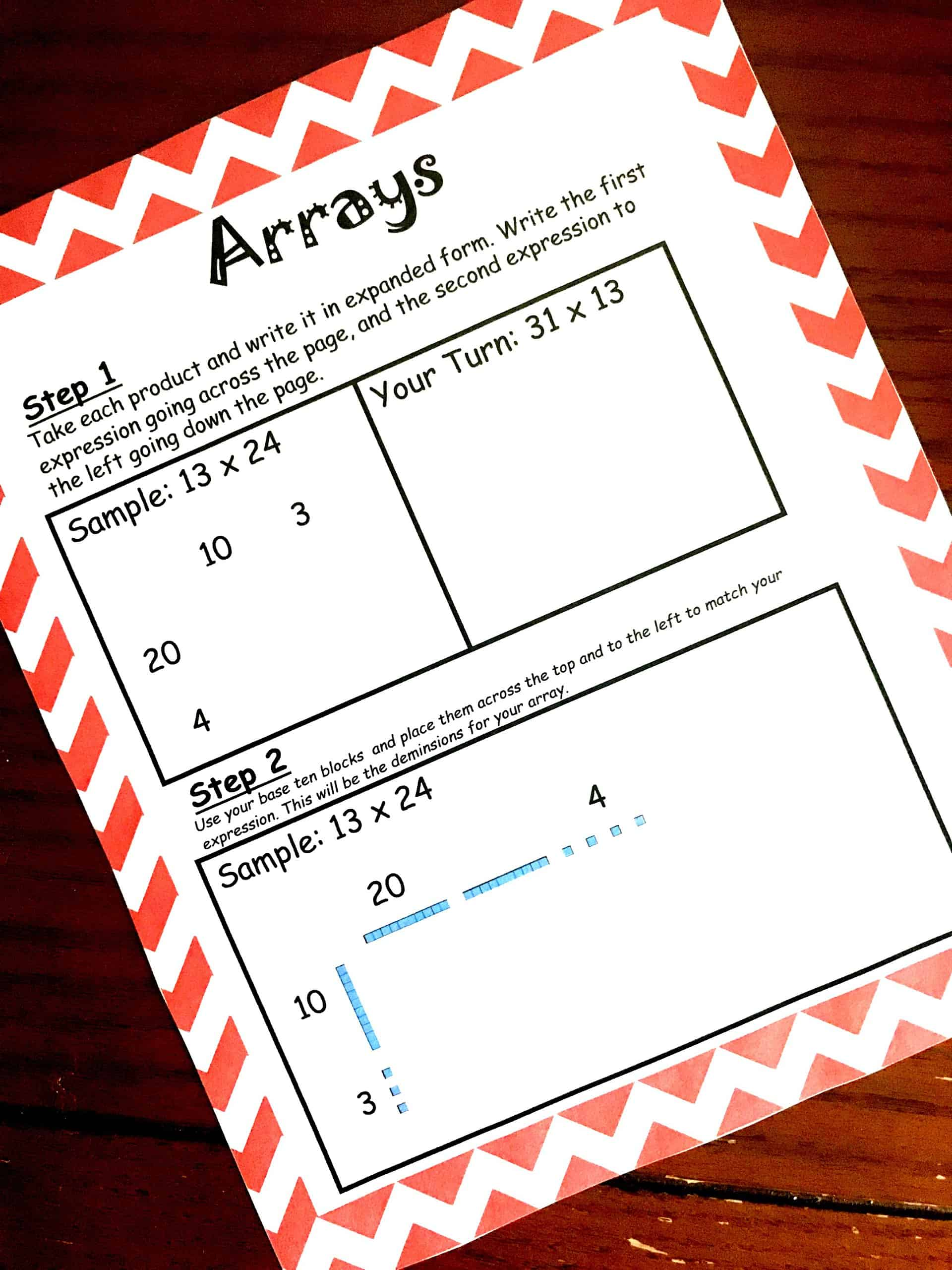 How To Teach Large Digit Multiplication Using Arrays And