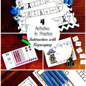 -4 activities to practice subtraction with regrouping