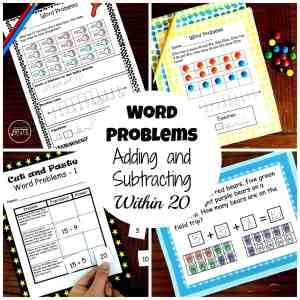 Word Problems bundle adding and subtracting within 20