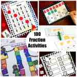 check out these 100 fraction activities to master fractions