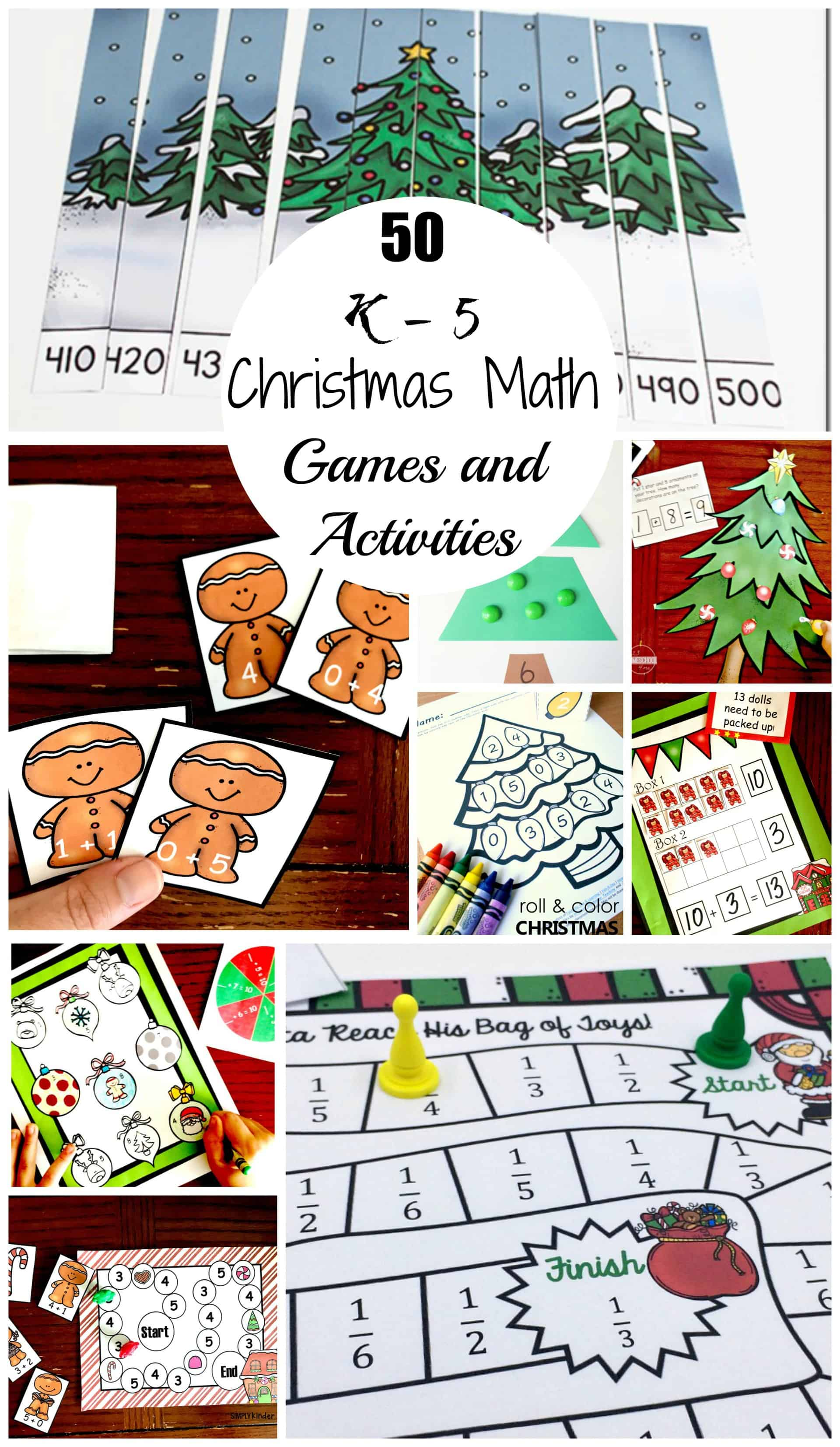 christmas math games and activities
