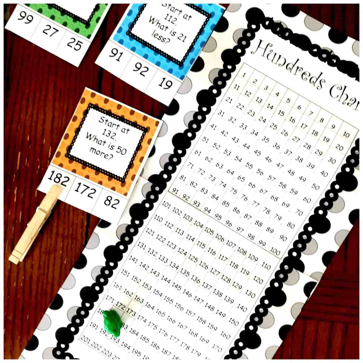 Here's A Free Number's Chart Activity to Build Number Sense