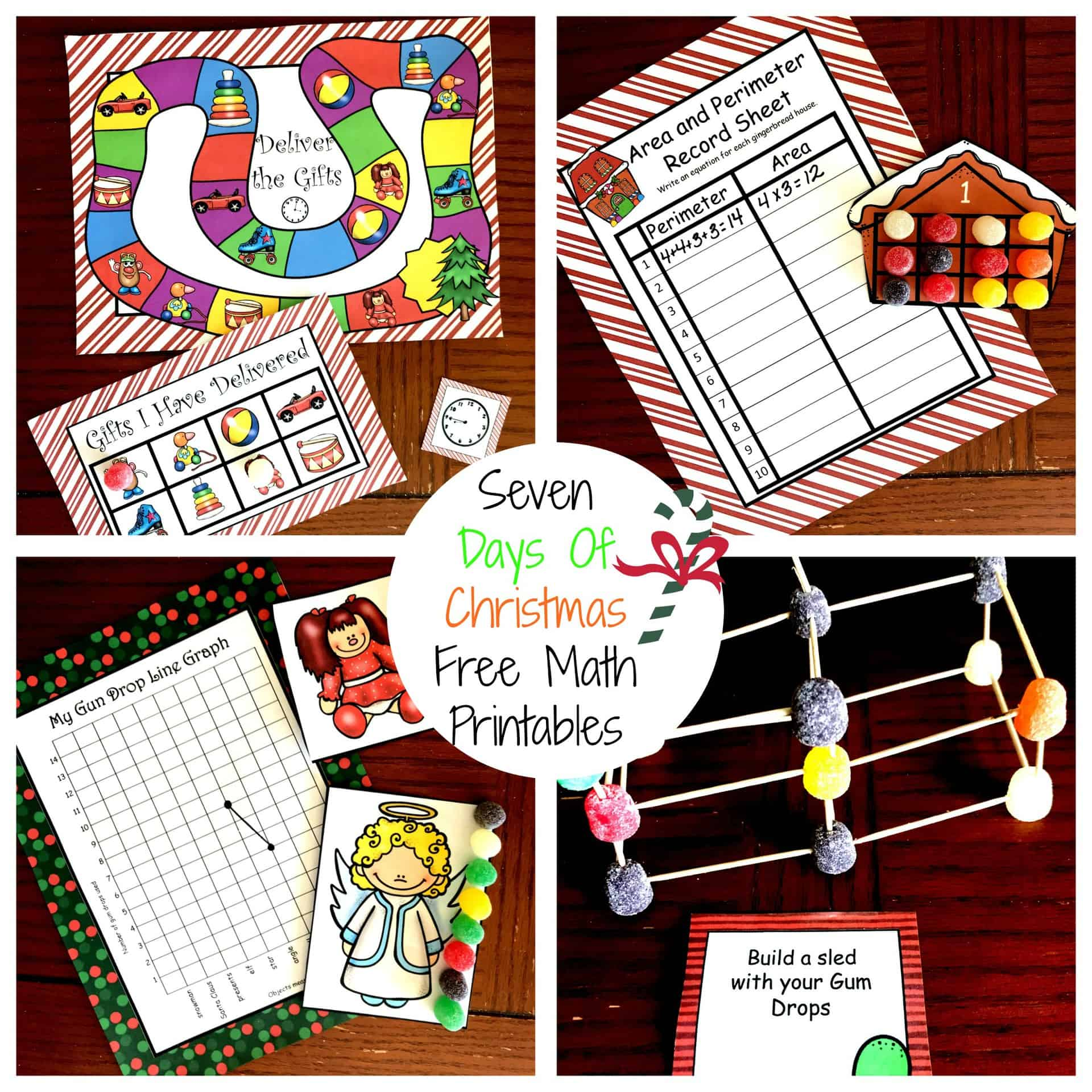 Seven Days Of Free Christmas Math Printables For K