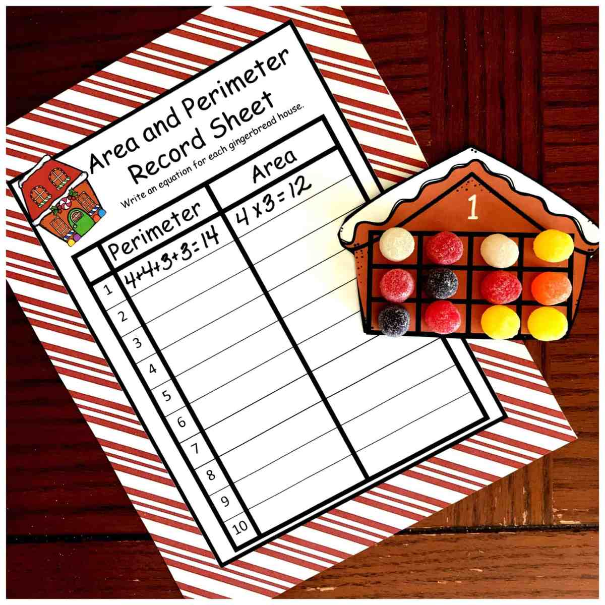 Here's A Free Christmas Themed Area and Perimeter Activity