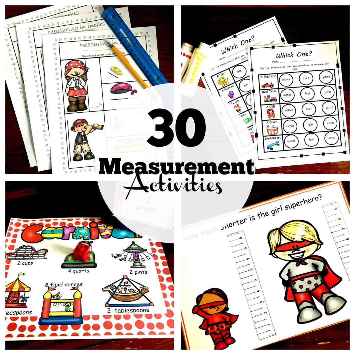 30 of my Favorite Hands-On Measurement Activities