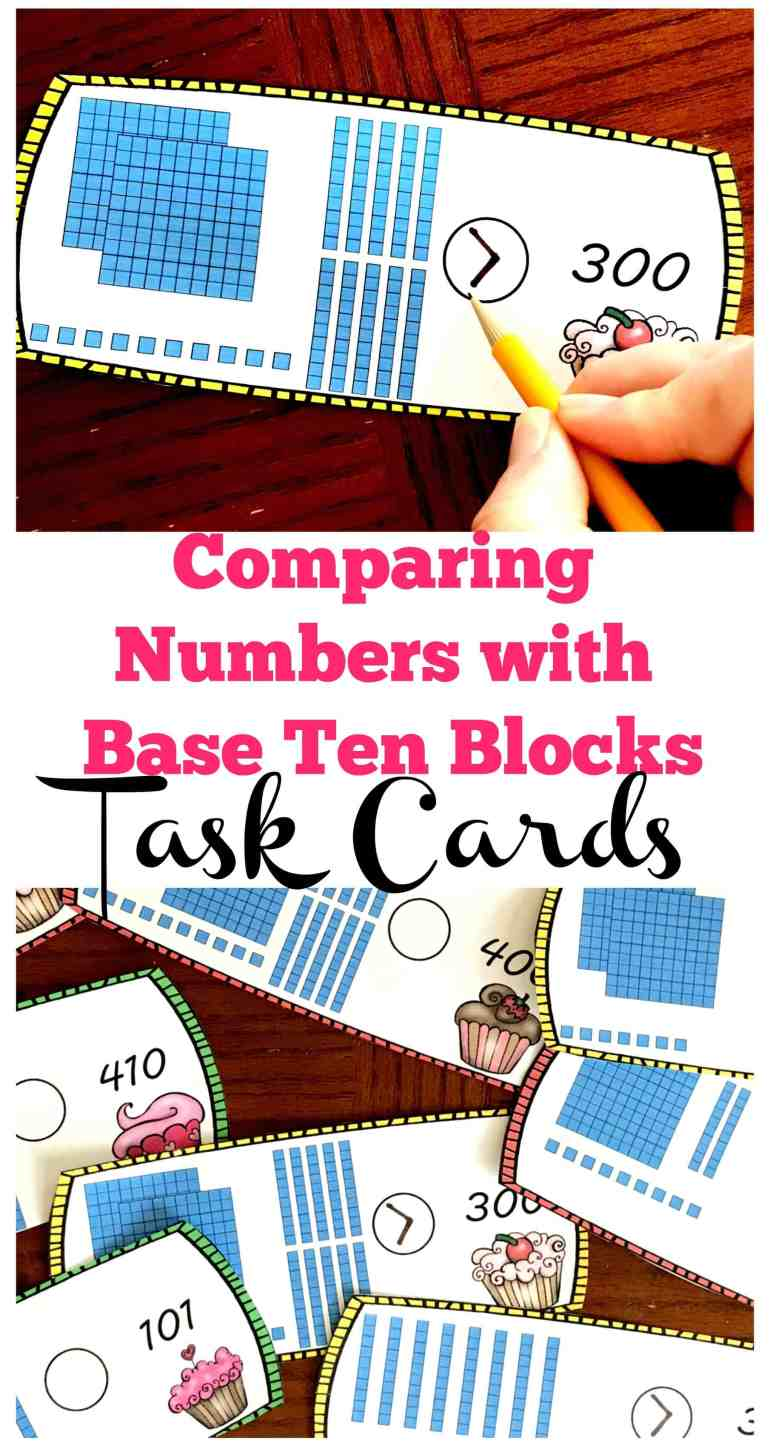 These free comparing numbers with base ten blocks worksheets are a great way to help children visualize numbers in the tens and hundreds and compare them with a number written in numeric form.