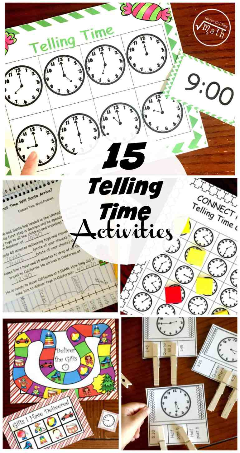 "Is it ""time"" for your kiddos to learn to tell time? Then these 10 fun and engaging ways to teach and practice telling time may be just what you need."