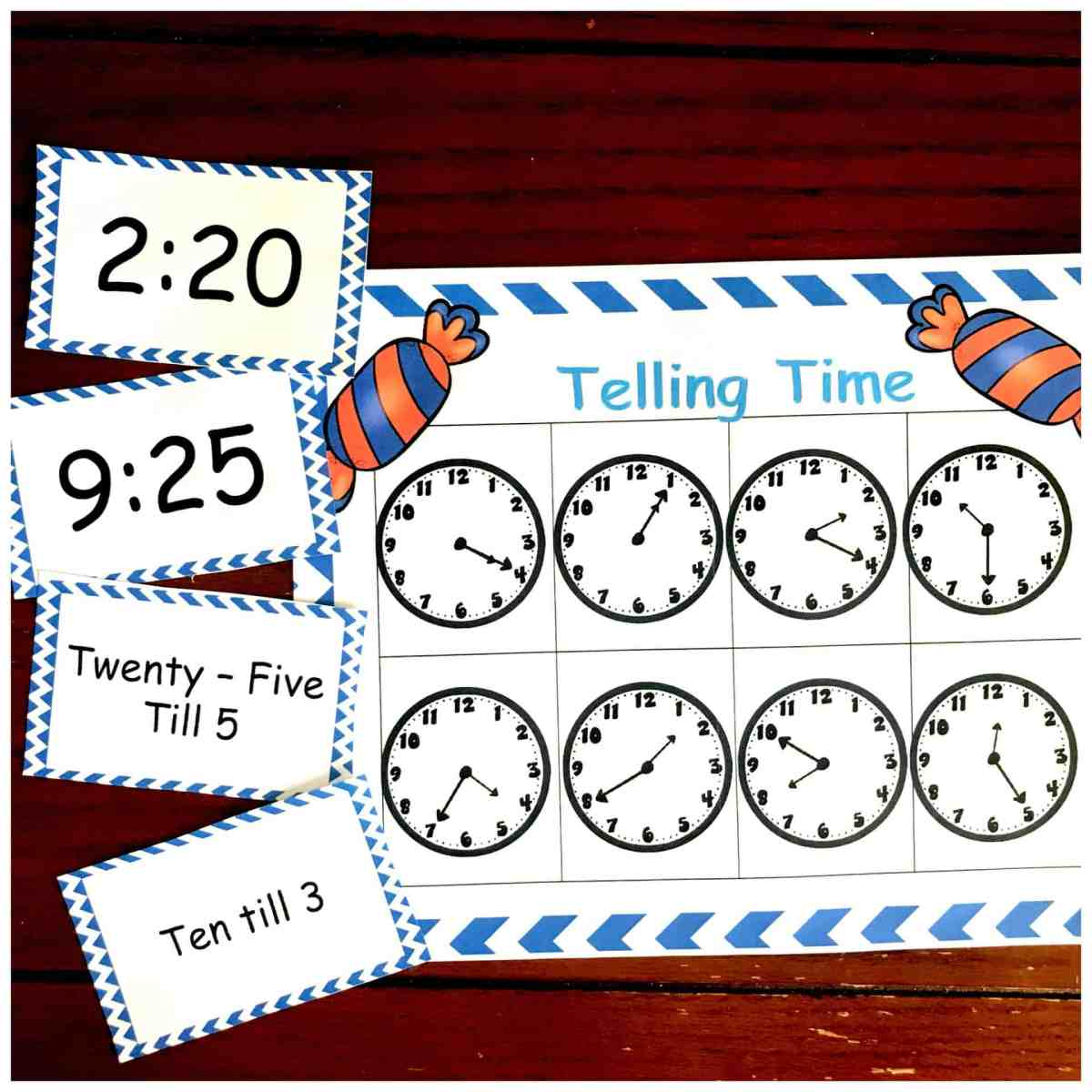 3 Leveled Bingo Game To Practice Telling Time