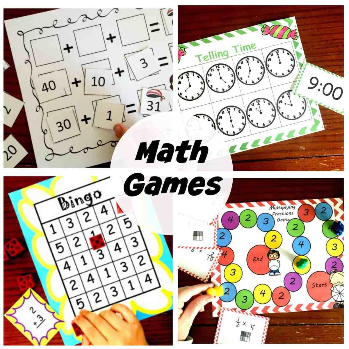 30 Easy Math Games to Help Make Math Time Fun