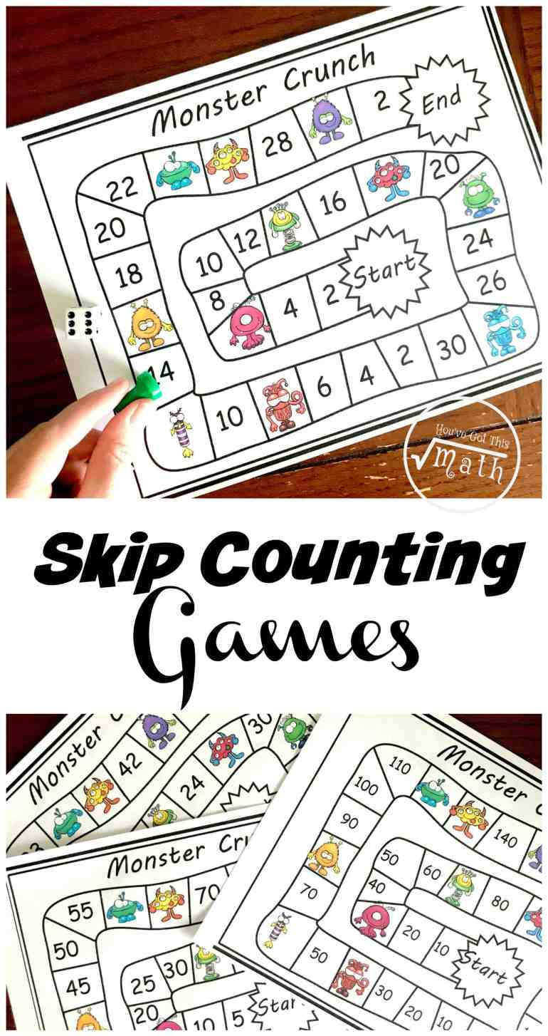 Do you need skip counting games for the classroom? These no-prep games help children learn to count by 2's all the way to the 15's.