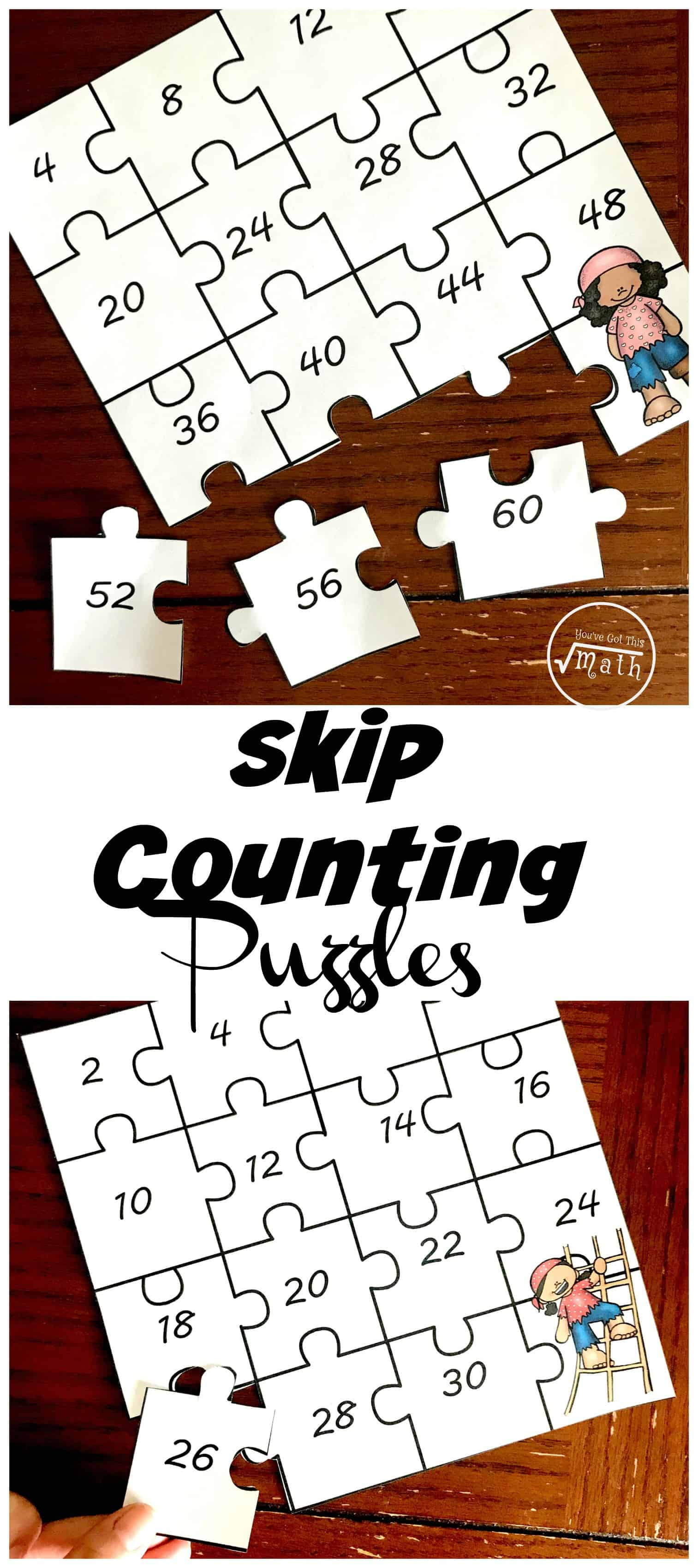 Do yourchildren love puzzles? Then these skipcounting puzzles are a wonderful way to practice skip counting and build some schema for multiplication times tables.