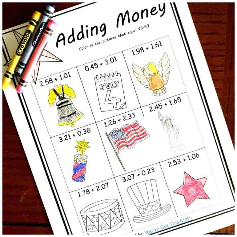 The Children Then Go Through And Solve Each Of Nine Adding Money Or Decimal Expressions If Expression Equals Amount Written In Directions