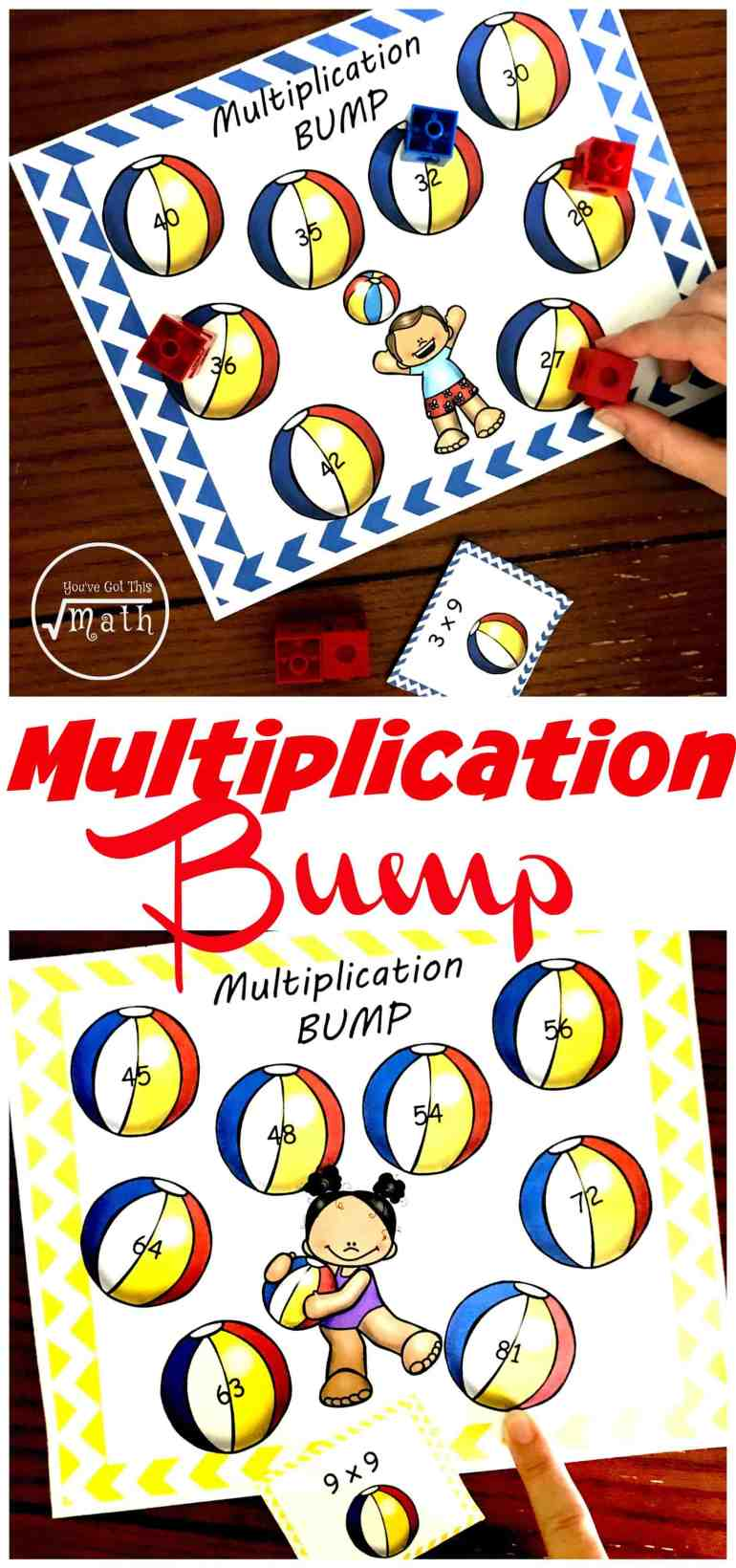 This low-prep times table game for kids is a fun and easy way for children to practice their multiplication facts.